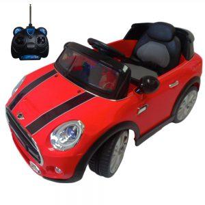 Carro eléctrico Mini Cooper JE195-ROJO