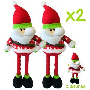 Combo Muñecos Navideños Papa Noel