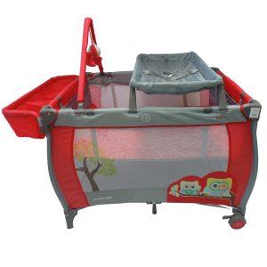 Corral Mecedora Happy Baby Cams Pro Rojo