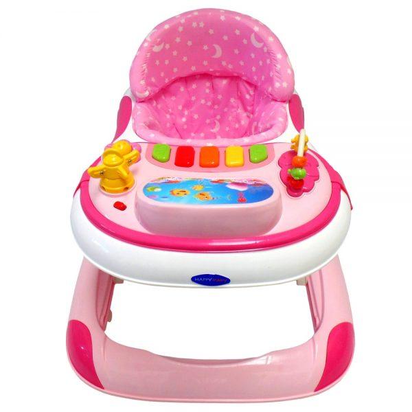 Caminador Musical Happy Baby Cm-002 Rosa